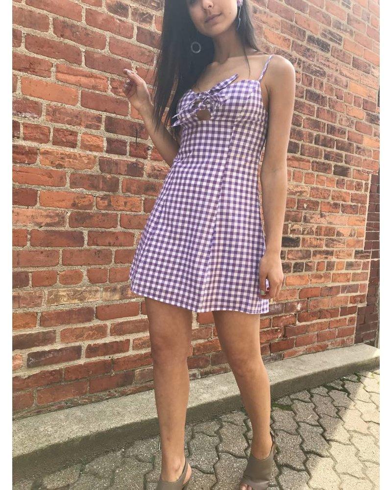 skylar madison tpd-2172c gingham mini dress
