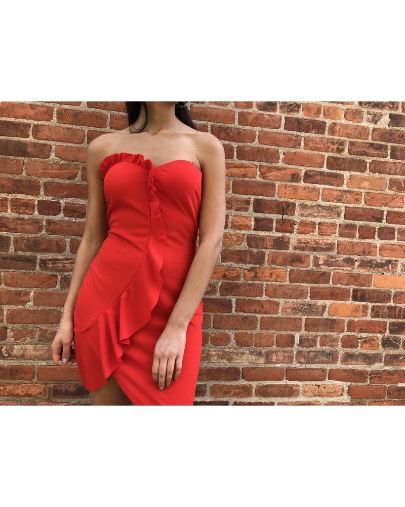 symphony id5788vp ruffle mini dress