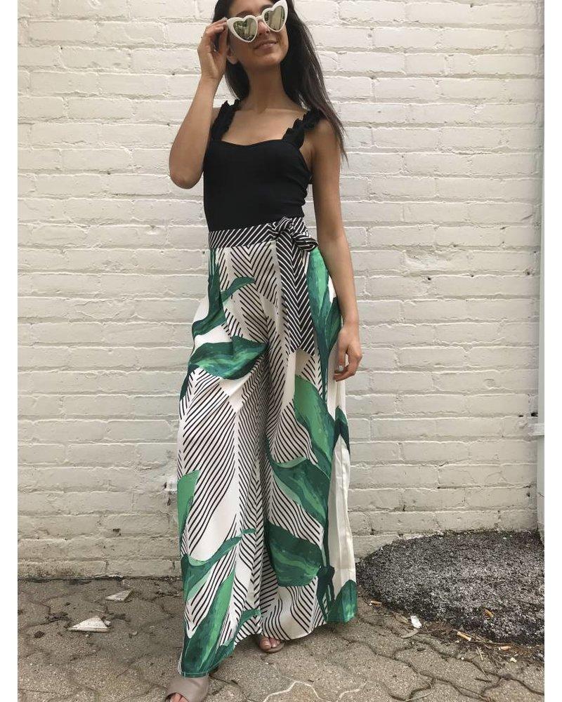 jp4082 print wide leg pants