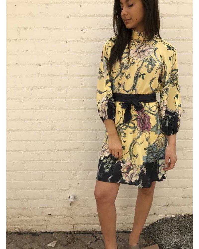 jd5837jd5837 Print cinch waist dress