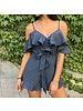 ibr1345 cold shoulder ruffle romper
