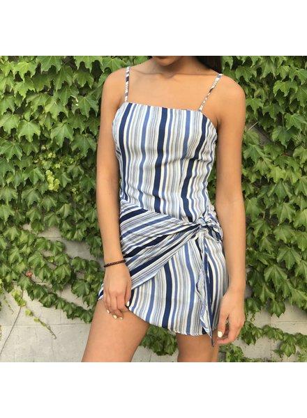 cd-8851-1 mixed stripe dress