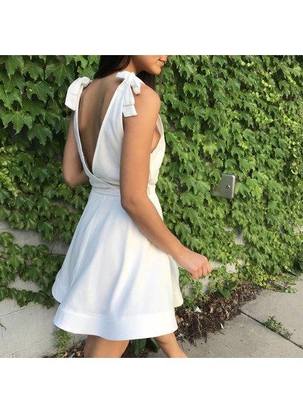 luxxel ld4842 deep plunge mini dress