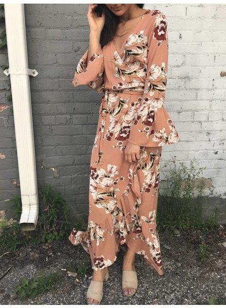 luxxel Ld4299 wrap maxi dress