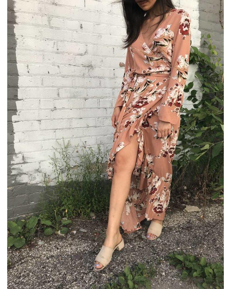 luxxel wrap maxi dress