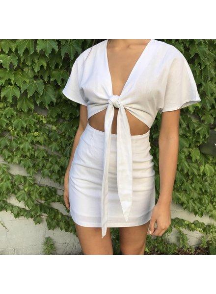 ld50364z open front mini dress