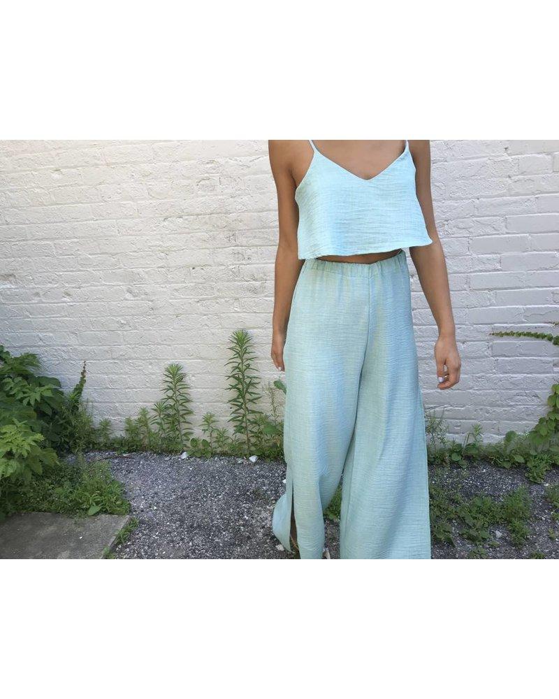 Blue Blush jasmine slit pant set
