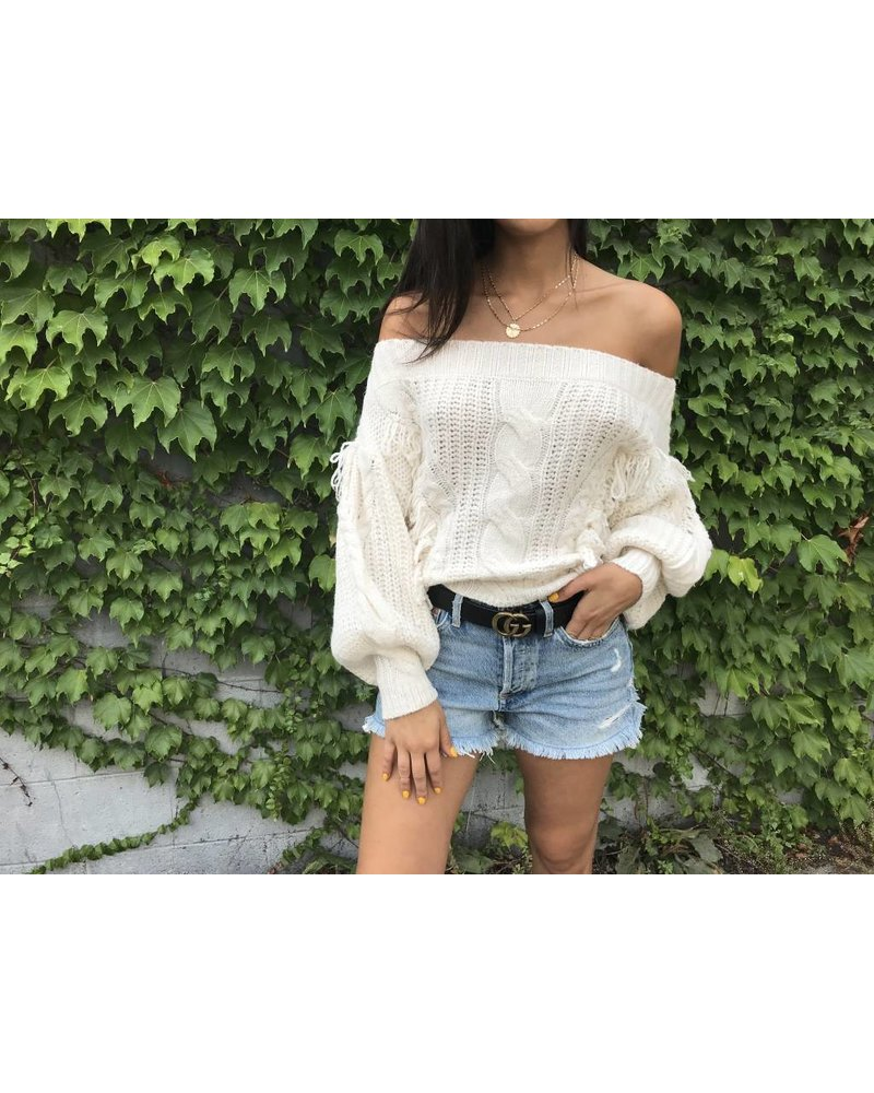 Blue Blush sydney sweater