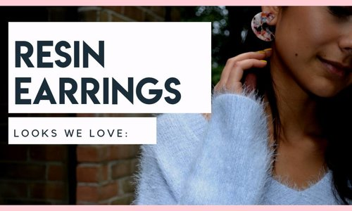 looks we love: resin earrings