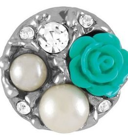 Good Bead Inc Pearl Garden Turquoise Snap