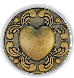 Good Bead Inc Brass Tattoo Heart RETIRED