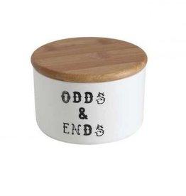 "Creative Co-Op Odds & Ends"" Jar w/ Bamboo Lid"