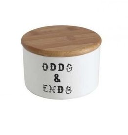 """Creative Co0 Odds & Ends"""" Jar w/ Bamboo Lid"""
