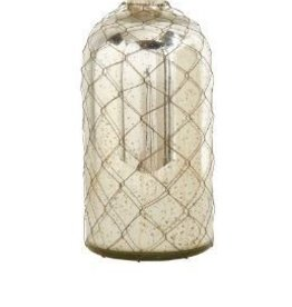 K & K Interiors, Inc. 16 Inch Vase with Wire Mesh