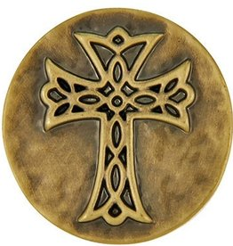 Good Bead Inc Brass Hammered Cross Snap
