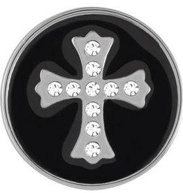 Good Bead Inc Black Snap Stone Cross