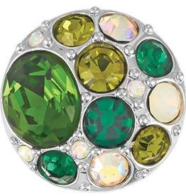 Good Bead Inc Vintage Brooch - Greens