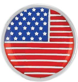 Good Bead Inc Enamel Usa Flag Snap