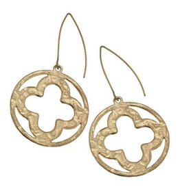 Canvas Earrings Clover Marq Gold