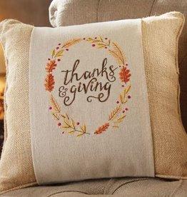 Mud Pie Thanksgiving Pillow Wrap