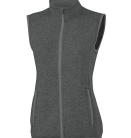 Charles River Apparel Pacific Heathered Fleece vest