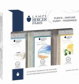 Lampe Berger Trio Pack Fresh - Lampe Berger