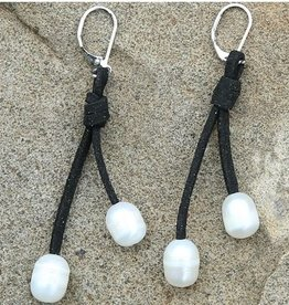 Mad Style Leather Pearl Dewdrop Earrings
