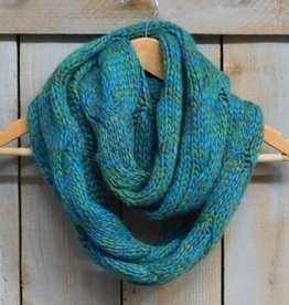 Braid Cable Infinity Scarf Grn