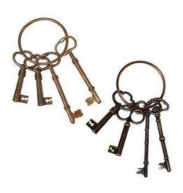 Creative Co-Op Key Ring w/ 4 Keys, Assorted