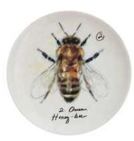 Creative Co-Op Stoneware Plate w/ Bee, Assorted