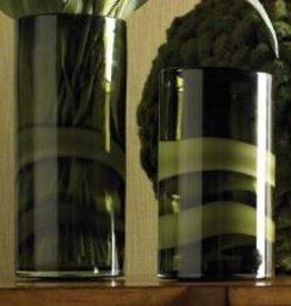 K & K Interiors, Inc. Vase Cylinder Green Opal