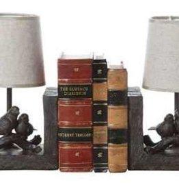 Creative Co0 Resin Bird Lamp Bookends