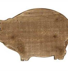 Creative Co-Op Fir Wood Pig Shaped Pedestal