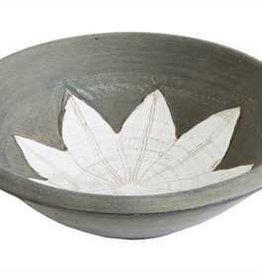 Creative Co0 Terra Cotta Bowl w/ Flower Design