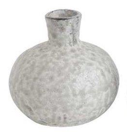 Creative Co-Op Distressed Grey Terra Cotta Vase