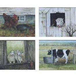 Creative Co-Op Barn Animal MDF Block Decor, Assorted