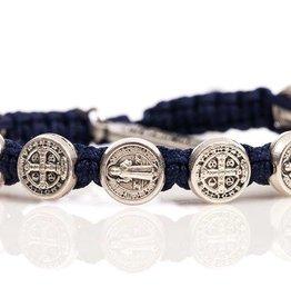 My Saint My Hero Silver Benedict Bless Bracelet (Asst Colors)