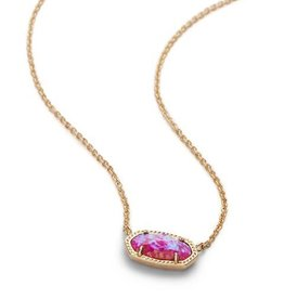 Kendra Scott Kendra Scott  Elisa Necklace Gld Fuchsia Opal