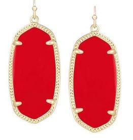 Kendra Scott Kendra Scott  Elle Earrings In Bright Red Opaque