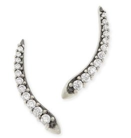 Kendra Scott Whit Ear Climber Antique Silver