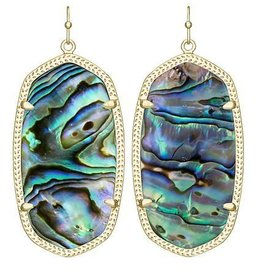 Kendra Scott Kendra Scott Danielle Earrings In Abalone Shell Gold