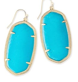 Kendra Scott Kendra Scott  Danielle Gold Earrings In Turquoise