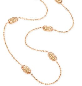 Kendra Scott Kendra Scott Kellie Long Necklace In Gold Dusted Glass