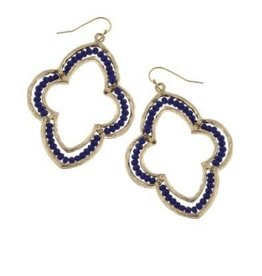 Canvas Royal Glass Bead Moroccan Earrings