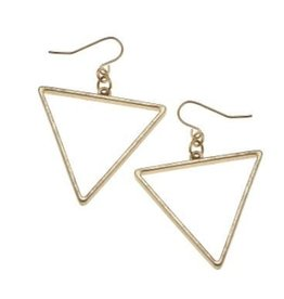 Canvas Open Triangle Earring