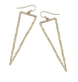 Canvas Hammered Spear Earring