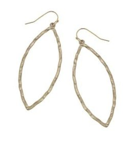 Canvas Hammered Marquis Earring