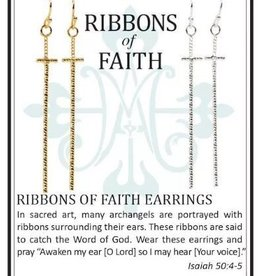 My Saint My Hero Ribbons of Faith Earrings Set