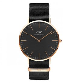 Daniel Wellington Inc DW Classic Black Cornwall Man Watch Rose 40mm