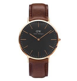 Daniel Wellington Inc DW Classic Black Bristol Man Watch Rose 40mm